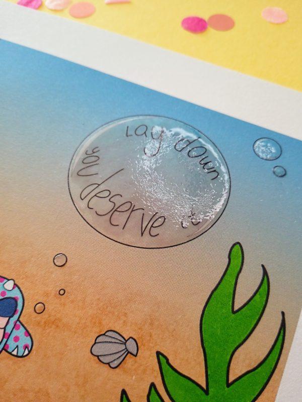 Mermaid chibimonster print